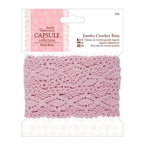 2m Jumbo Crochet Trim - Capsule Collection - Wild Rose