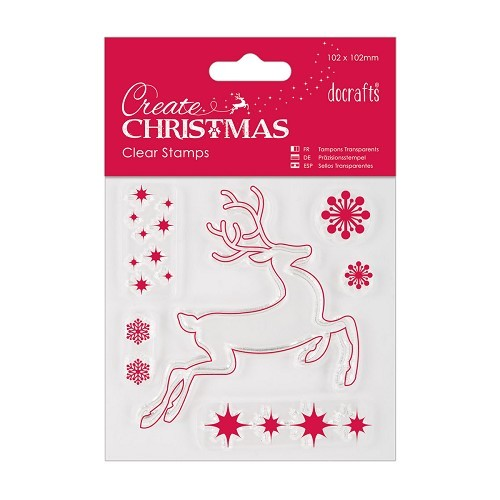 102 x 102mm Mini Clear Stamp - Reindeer