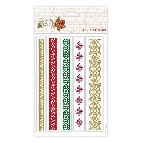 5 x 7 Clear Stamp (5pcs) - First Noel - Borders