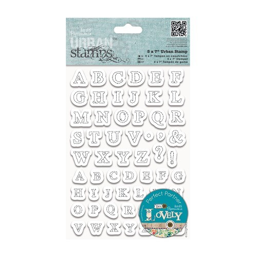 5 x 7 Urban Stamp - Stitched Alphabets