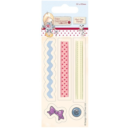 50 x 100mm Mini Clear Stamp - Tilly Daydream - Ribbons