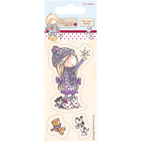 50 x 100mm Mini Clear Stamp - Tilly Daydream - Snowflake