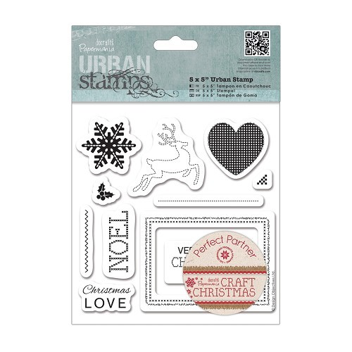 5 x 5 Urban Stamp (11pcs) - Craft Christmas