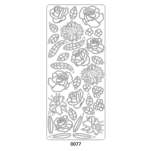 0077 sticker bloemen rose