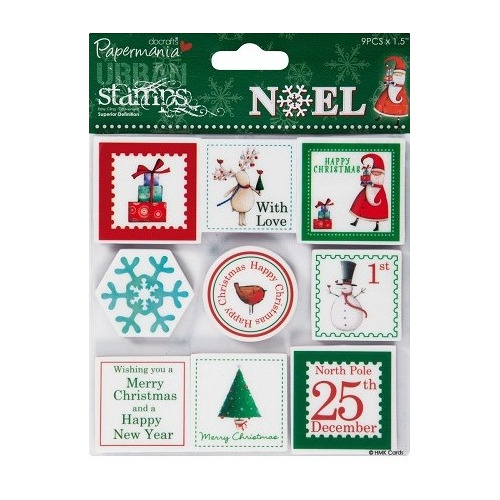 5x5 Urban Stamps - Noel (9pcs) Postage Stamps