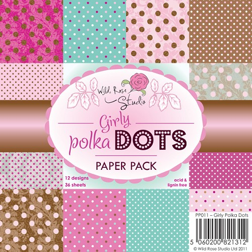 1 PK (1 PK) 6x6 Paper Pack Girly Polka Dots a 36 VL
