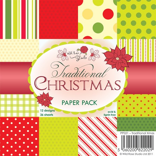 1 PK (1 PK) 6x6 Paper Pack Traditional Xmas a 36 VL