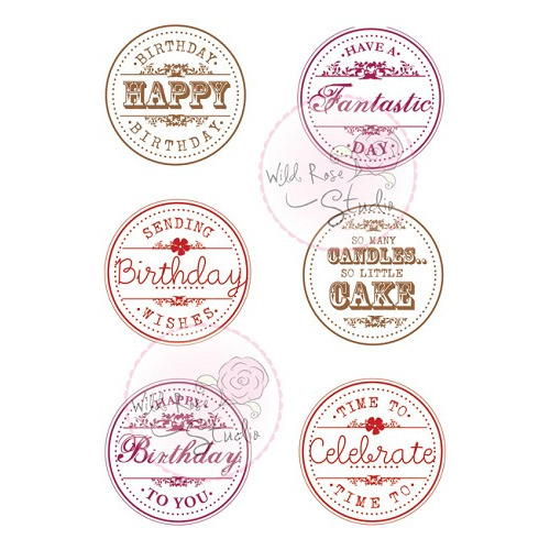 1 ST (1 ST) A7 stamp set Birthday Circles