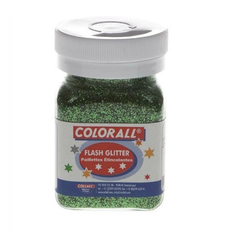 1 PT (1 PT) Colorall glitter groen 150ml/95g