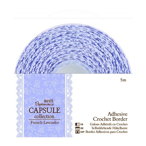 5m Adhesive Crochet Border - Capsule Collection - French Lavende