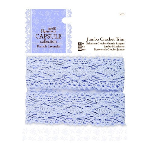 2m Jumbo Crochet Trim - Capsule Collection - French Lavender