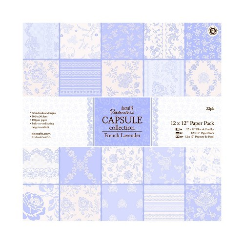 12 x 12 Paper Pack (32pk) - Capsule Collection - French Lavender