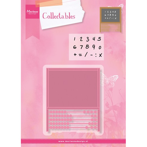 3 NOV COL1374 Collectables set abacus stamp + stencil set