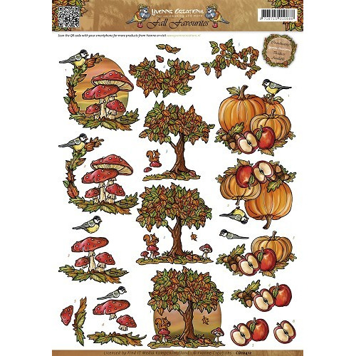 3D Knipvel - Yvonne Creations - Fall Favourites - Autumn Scenes