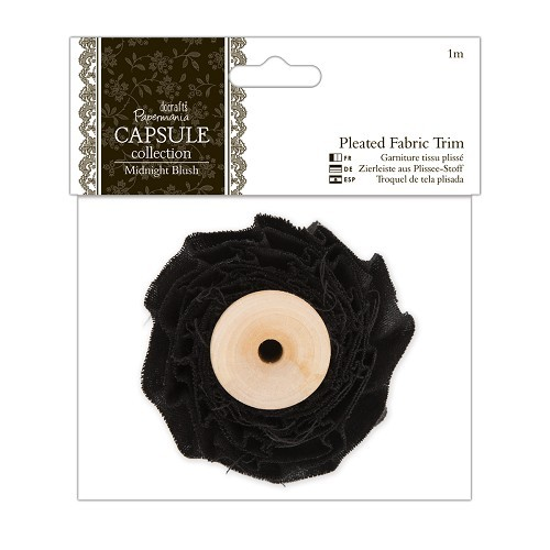 1m Pleated Fabric Trim - Capsule Collection - Midnight Blush