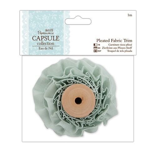 1m Pleated Fabric Trim - Capsule Collection - Eau De Nil