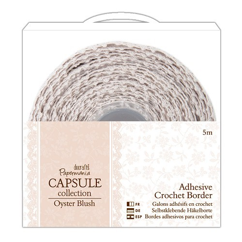5m Adhesive Crochet Border - Capsule Collection - Oyster Blush