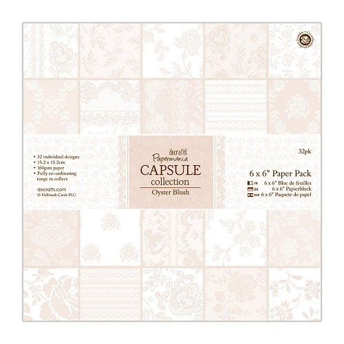 6 x 6 Paper Pack (32pk) - Capsule Collection - Oyster Blush