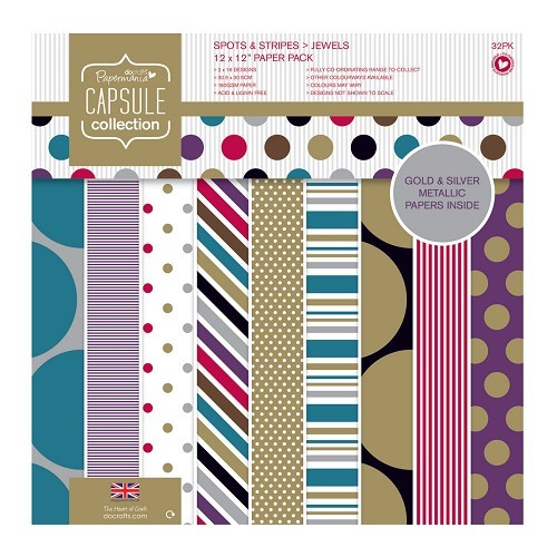 12 x 12 Paper Pack (32pk) - Capsule - Spots & Stripes Jewels