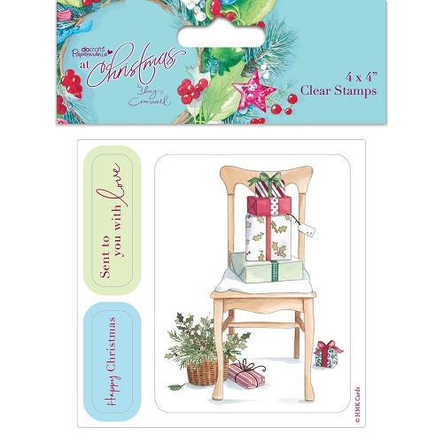 4 x 4`` Clear Stamps (3pcs) - At Christmas Lucy Cromwell - Chair