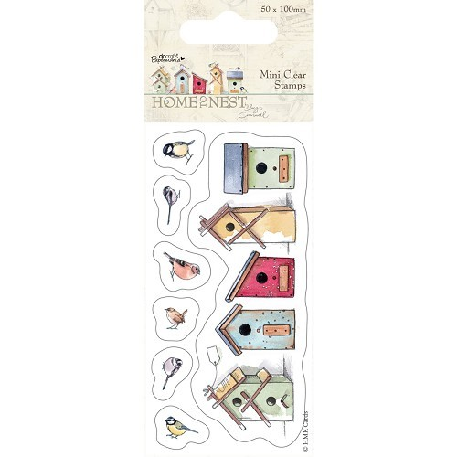 50 x 100mm Mini Clear Stamp - Home To Nest Lucy Cromwell - Birdh