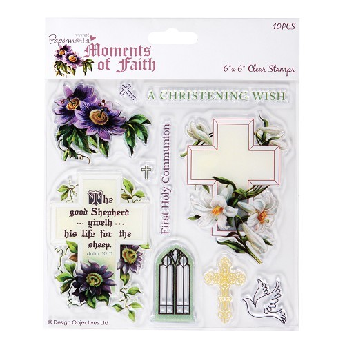 6X6 CLEAR STAMPS - MOMENTS OF FAITH