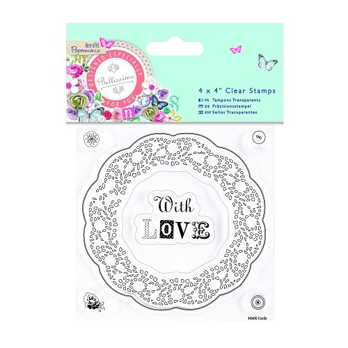 4 x 4 Clear Stamps - Bellissima - Doily Frame