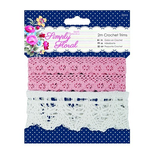 2m Crochet Trims (2pcs) - Simply Floral