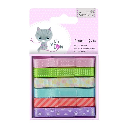 1m Ribbon (6pcs) - Little Meow