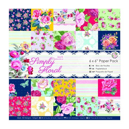 6 x 6 Paper Pack (32pk) - Simply Floral