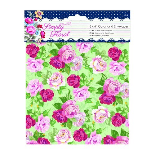6 x 6 Cards & Envelopes (12pk) - Simply Floral