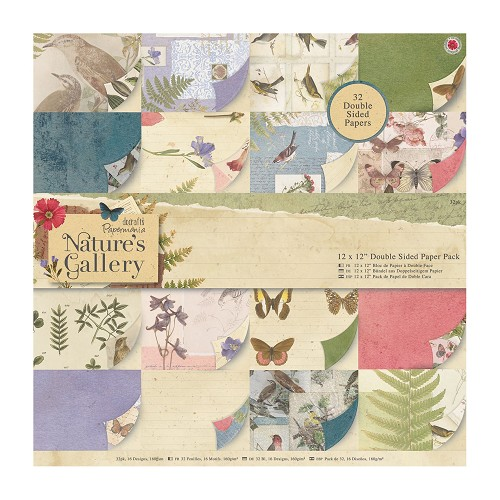 12 x 12 Double Sided Paper Pack (32pk) - Nature`s Gallery