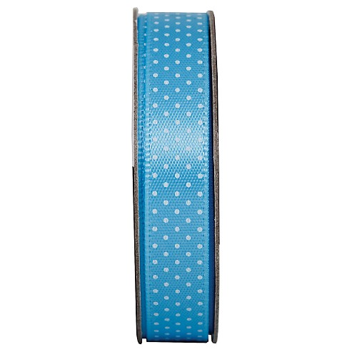 3MTR. RIBBON - SPOTTED - SOOTHING BLUE