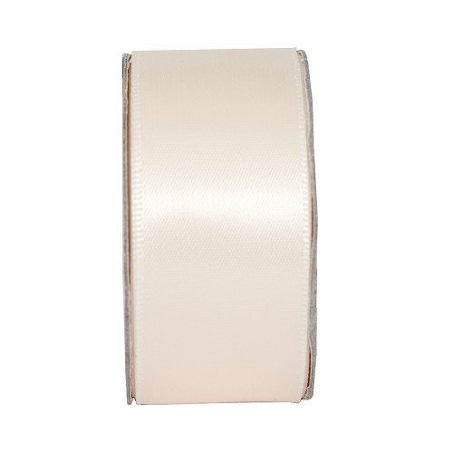 3MTR. RIBBON - WIDE SATIN - CREAM BLUSH