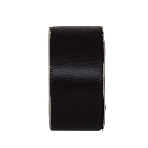 3MTR. RIBBON - WIDE SATIN - JET BLACK
