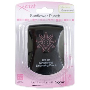 3.2cm dimensional embossing punch - sunflower burst