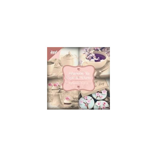 APR Joy! papierblok 10x10 afternoon tea 18 vel 200 grs