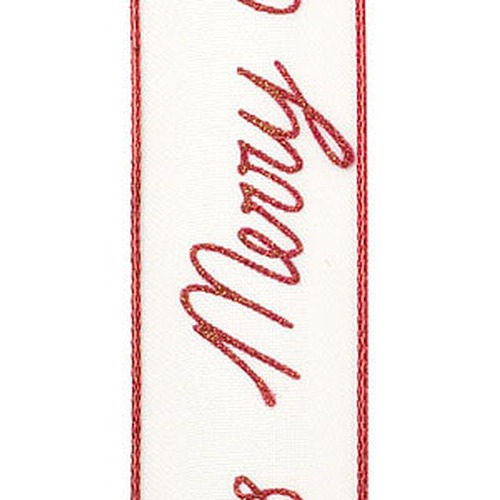 1 RL (15 MT) Lint Christmas season warm rood 25MM