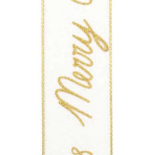 1 RL (15 MT) Lint Christmas season goud 25MM