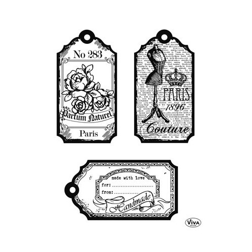 Clear Stamps - Tags Paris