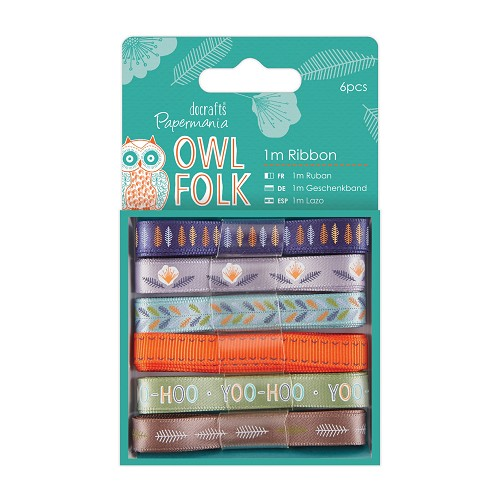 1m Ribbon (6pcs) - Owl Folk