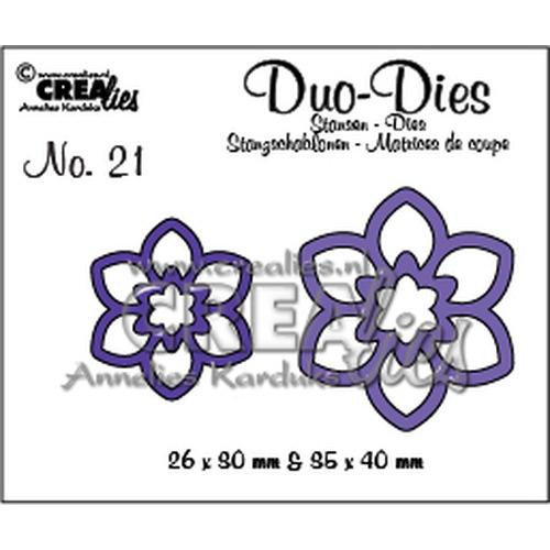 Crealies Duo Die no. 21 Bloemen 12  CLDD21 / 2,6x3 3,5x4 cm