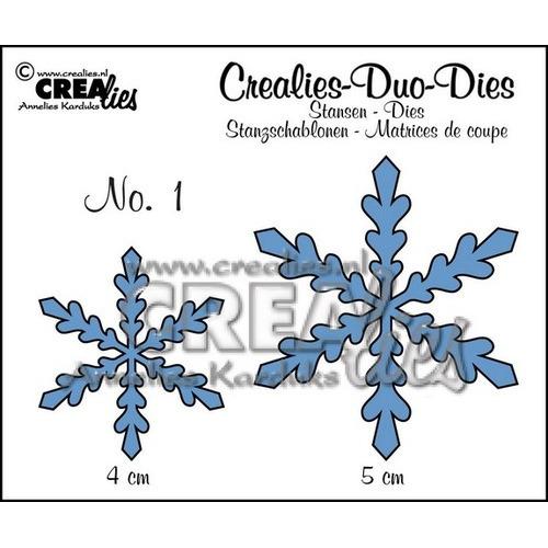 Crealies Duo Die no. 1 sneeuwvlok CLDD01 / 4 & 5 cm