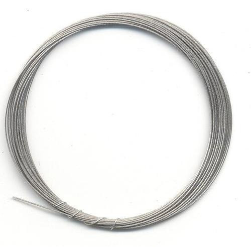 1 RL (1RL) Metaaldraad nylon coating zilverkleur 0,4 mm 4 MT
