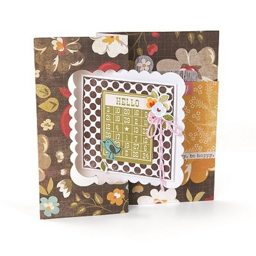 1 ST (1 ST) Movers & Shapers L Die Card, Scallop Square Flip- 658842 Stephanie Barnard