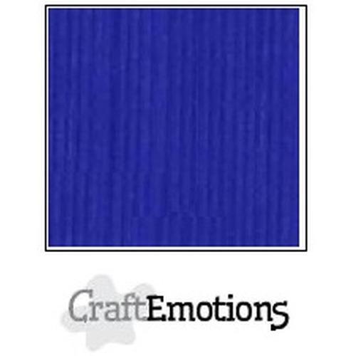 CraftEmotions linnenkarton 10 vel kobaltblauw 27x13,5cm  250gr  / LHC-55