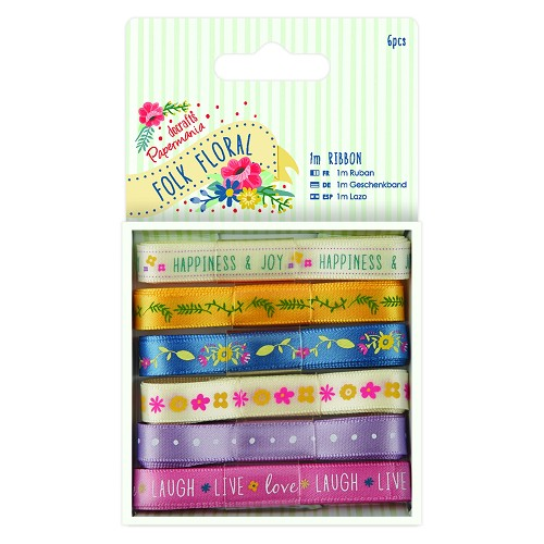 1m Ribbon (6pcs) - Folk Floral