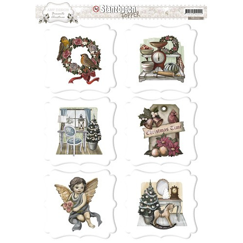 3D Pushout Topper - Amy Design - Brocante Christmas