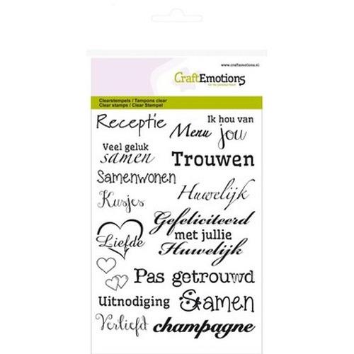 Craftemotions clearstamps a tekst nl huwelijk