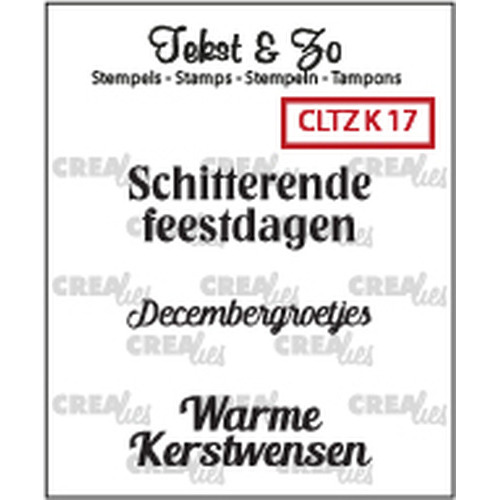 Crealies Clearstamp Tekst&Zo Kerst 17 (NL) CLTZK17